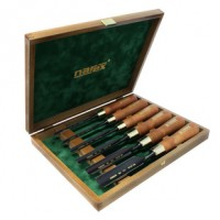 Set of firmer gouges PREMIUM in wooden box