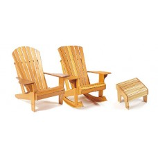 "Veritas® ""Adirondack Plus"" Chair & Footstool Plan"
