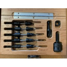 SET #10 Countersink set with 5 drills