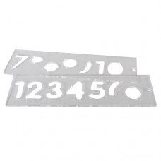 Template set number 57mm uppercase