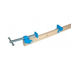 Flat clamp for gluing board materials